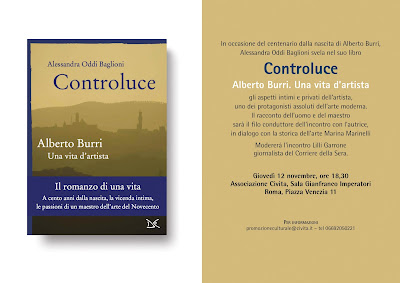 Burri: Presentazione libro Controluce 12 novembre 2015