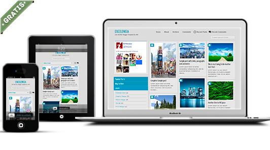 plantilla excelencia responsive blogger gratis