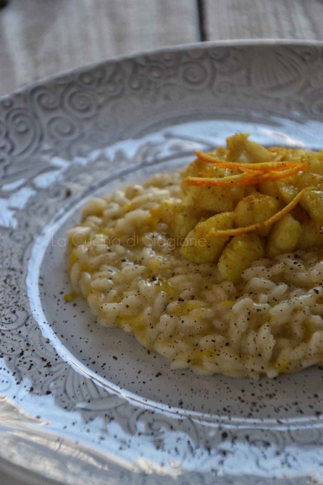 La Cucina di Stagione: Risotto agli agrumi, polvere di capperi e ...