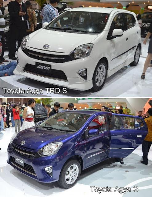 Toyota Agya TRD S dan Toyota Agya tipe G