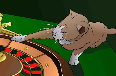 roulette wheel casino cat