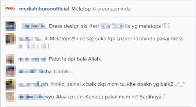 Fesyen Izreen Azminda Pula Dikritik Peminat, info, terkini, hiburan, pelakon, izreen azminda, gosip, kontroversi,