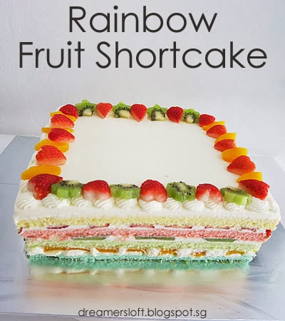 DreamersLoft Dear sons 4th Birthday Cake Rainbow Fruit Shortcake