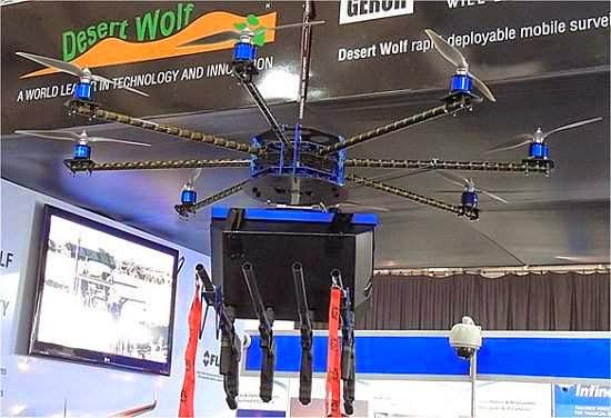 """Drone que dispara contra multidões e """"controla"""" manifestações já no mercado"""