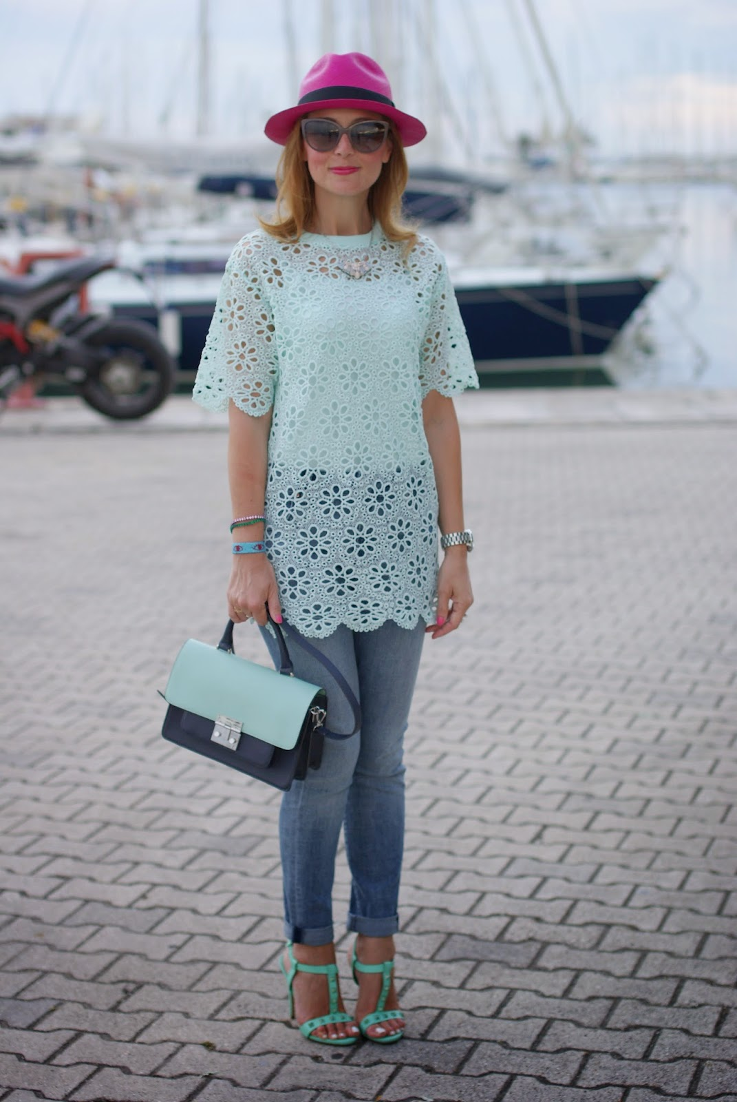 dressing up your jeans, le silla shoes, crochet top, Fashion and Cookies, fashion blogger