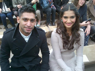Pakistani British Boxer 'Amir Khan' with Indian Actress 'Sonam Kapoor' in London. In Pakistan celebrities