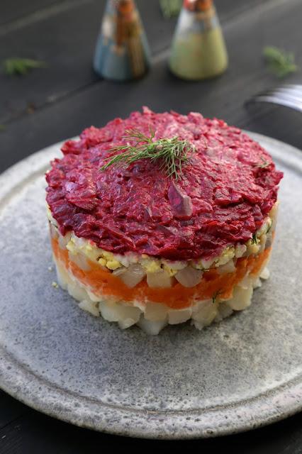 hareng, betterave rouge , théophanie , cuisine russe