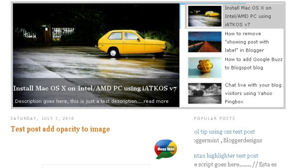 Add Jquery SlideShow On Blogger Blogs