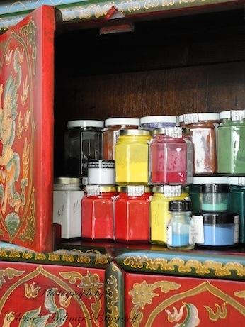 Elena Vladimir Baranoff - Elena Baranoff - Elena V. Baranoff - Fine Art Pigments In Decorative Cabinet - Artist Elena Vladimir Baranoff - Master Elena V. Baranoff - Elena Vladimir Artist