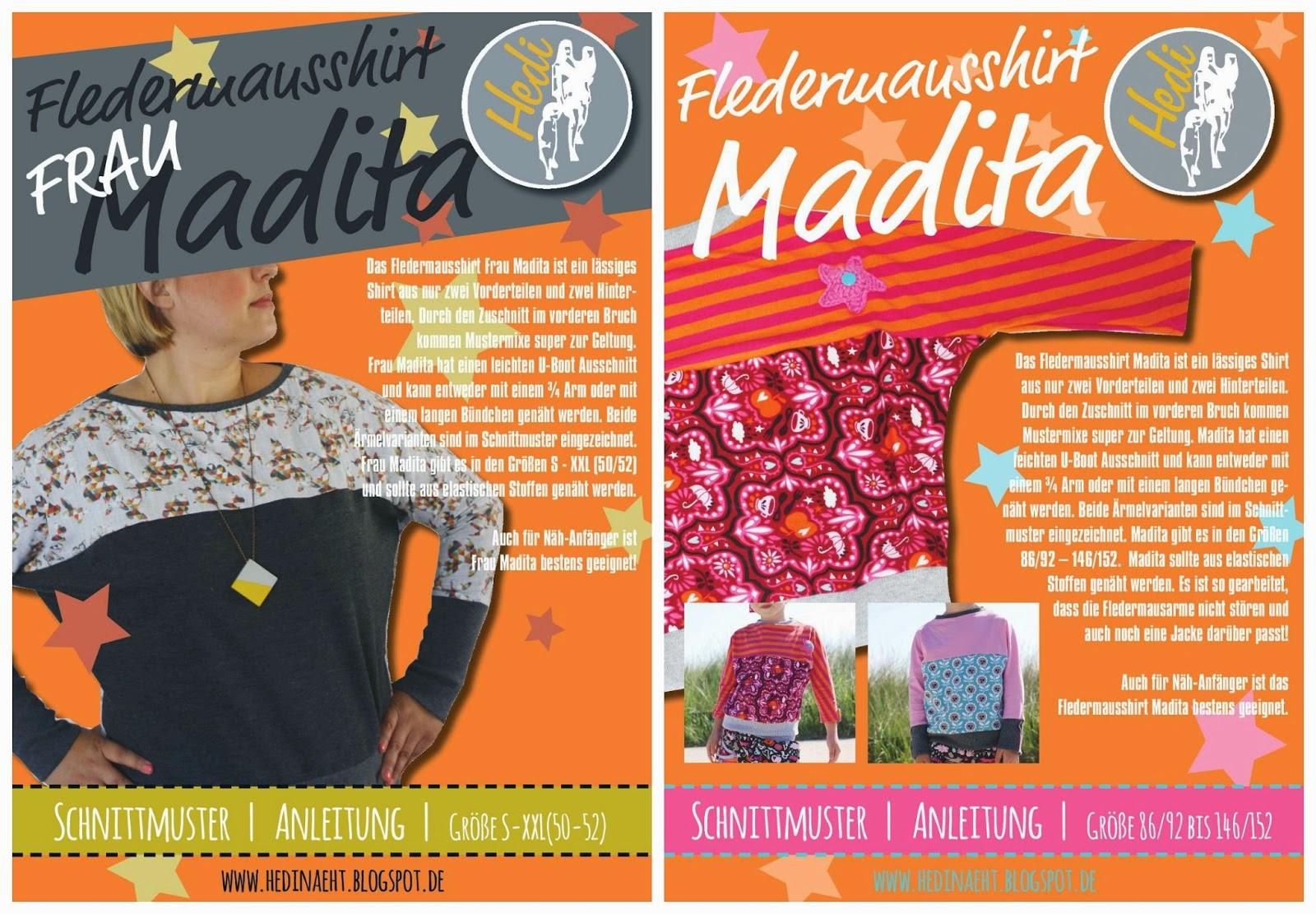 HEDI: Fledermausshirt Madita und Frau Madita sind online!