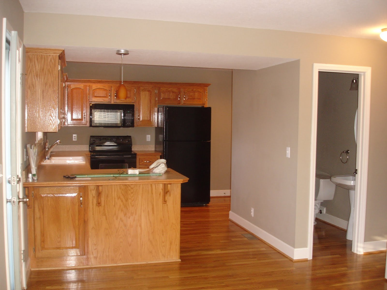Oak Color Paint Paint Color To Tone Down Yellow Oak Cabinets And Warm Very Dark