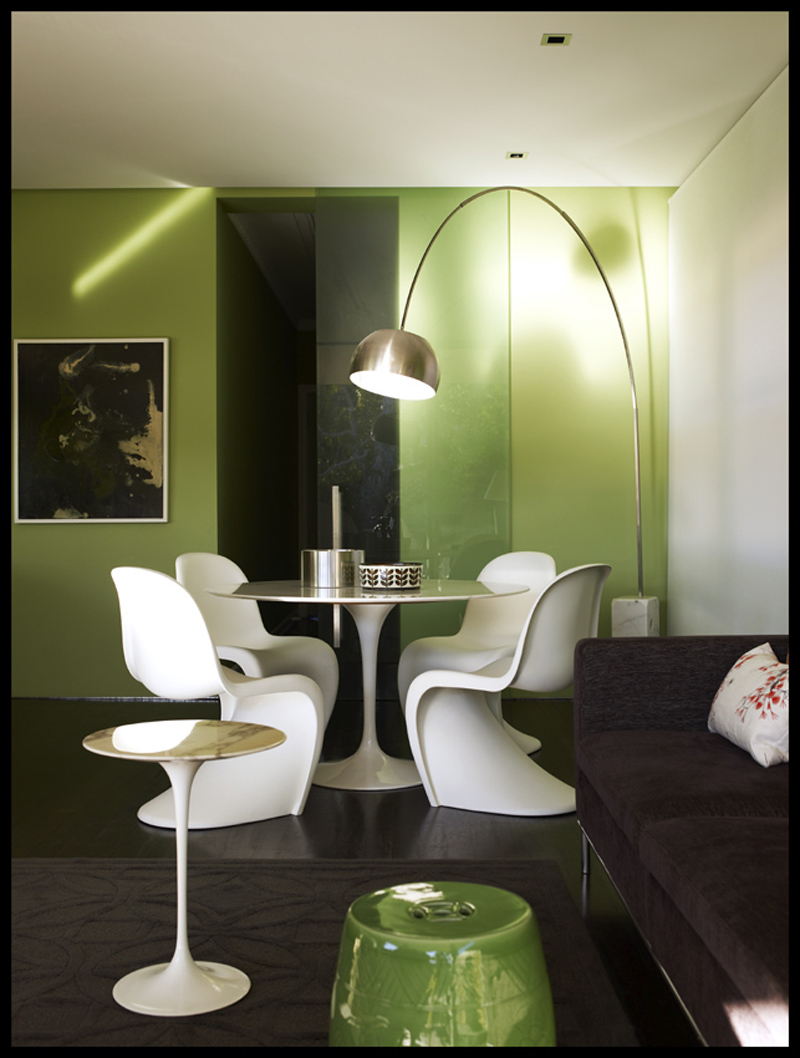 Green Dining Room Interior