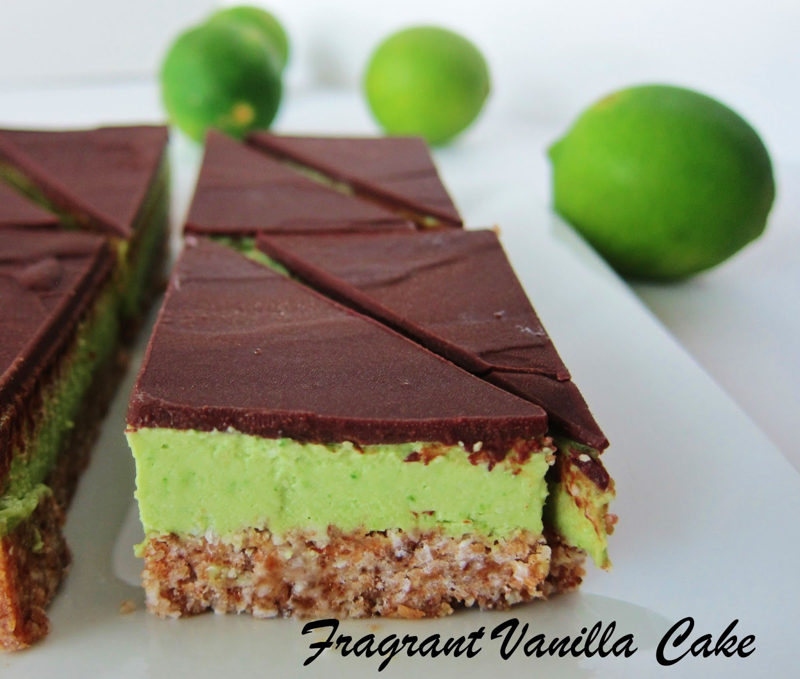 Raw Chocolate Covered Key Lime Bars | Fragrant Vanilla Cake