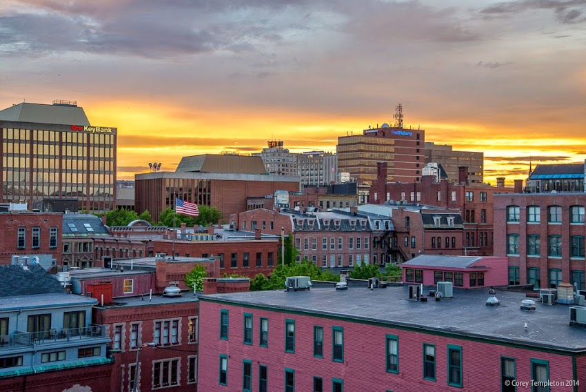 Portland, Maine June 2014 summer skyline downtown photo by Corey Templeton