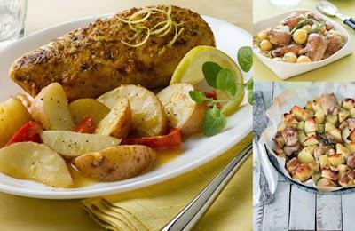 İtalyan usülü biberiyeli patates ve tavuk
