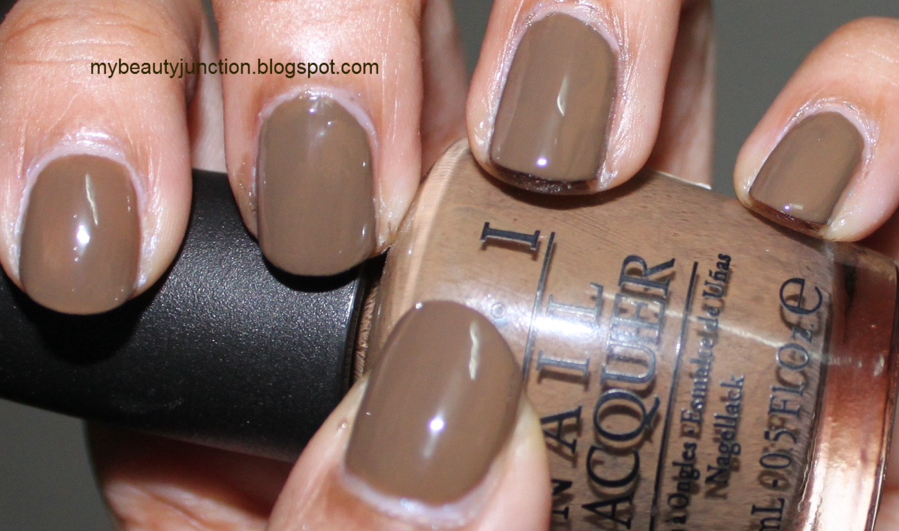 O.P.I. A-Taupe The Space Needle nail polish swatch and review
