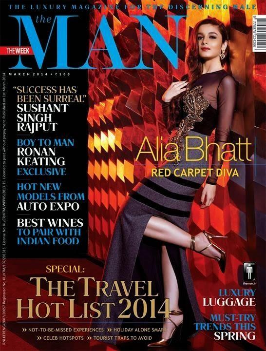 Alia Bhatt Gorgeous Photo Shoot for The Man Magazine March 2014