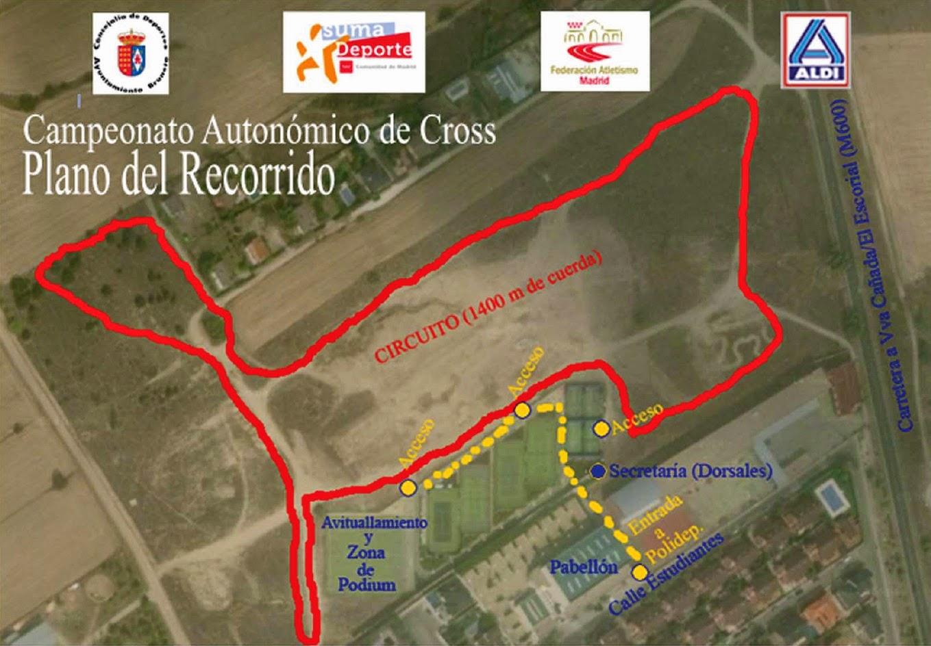 Circuito Brunete : Ampa escuela de atletismo fuenlabrada plano situaciÓn