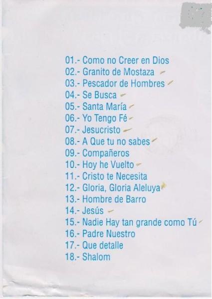 canciones de alabanza a: