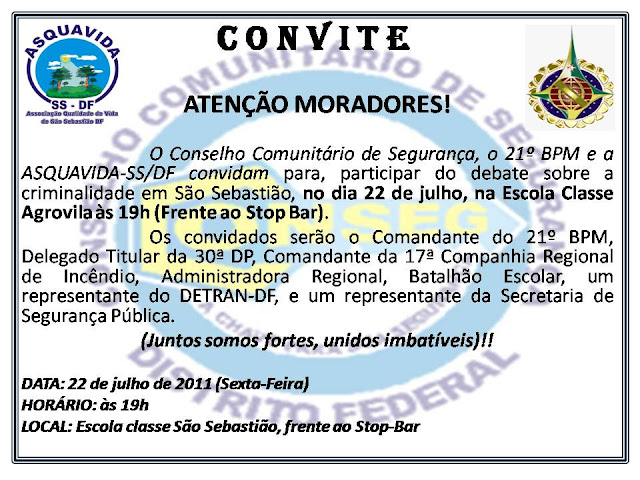 Debate sobre Criminalidade em São Sebastião