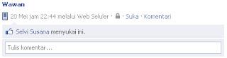 Membuat Status Kosong Facebook