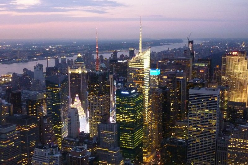 New York skyline tramonto