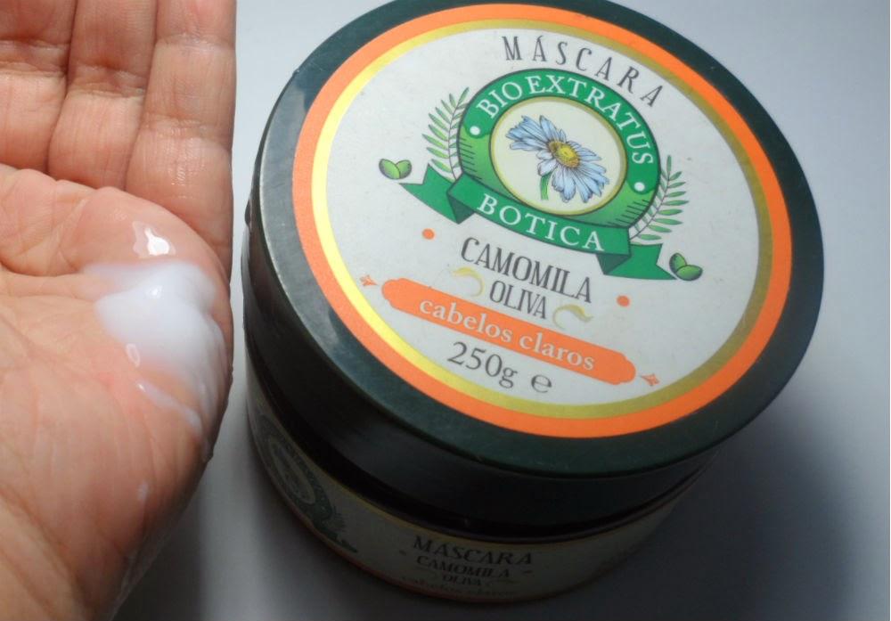 Resenha: Máscara Bio Extratus Botica - Camomila e Oliva para Cabelos Claros