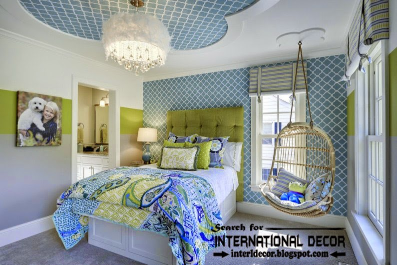 gypsum ceiling designs for nursery, kids ceiling designs, blue ceiling