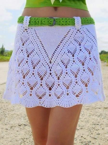 Falda al crochet