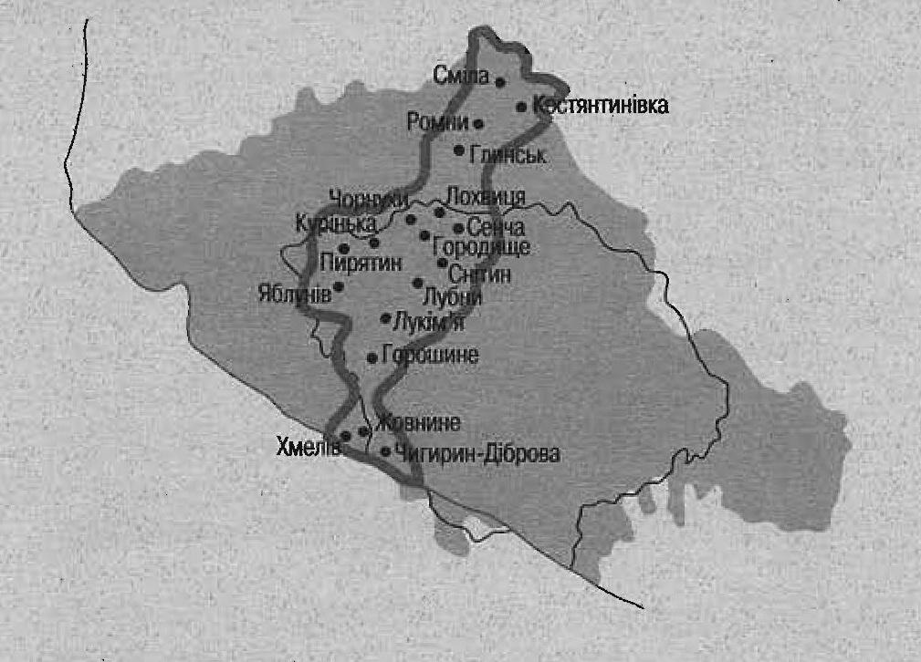 Схема сотенных местечек