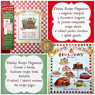 free holiday giveaway: treasure your family and holiday recipes in 2 organizers by susan branch!