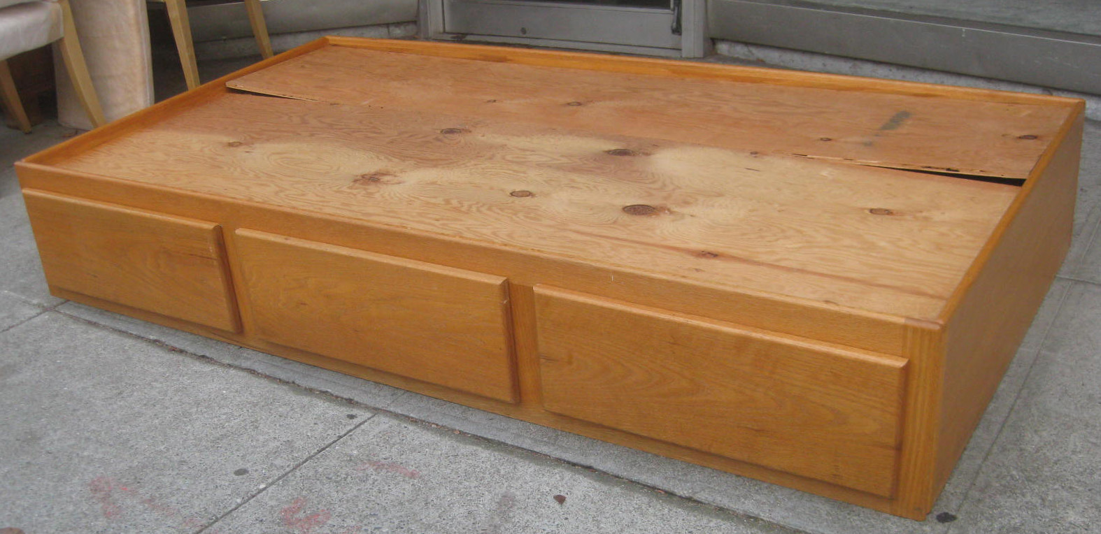 SOLD - Twin Pine Captain's Bed - $90