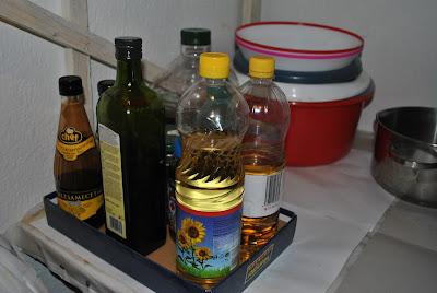 ulei de floarea soarelui, ulei de masline, otet de mere, otet balsamic