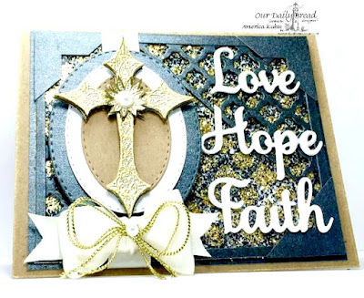 Our Daily Bread Designs Stamp sets: Boho Cross, Our Daily Bread Designs Custom Dies: Stitched Ovals, Faith, Hope & Love, Boho Background