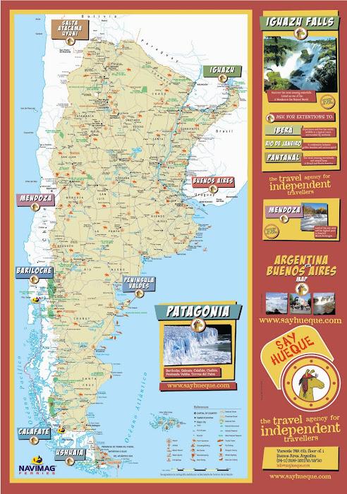 Argentina Tourist Map