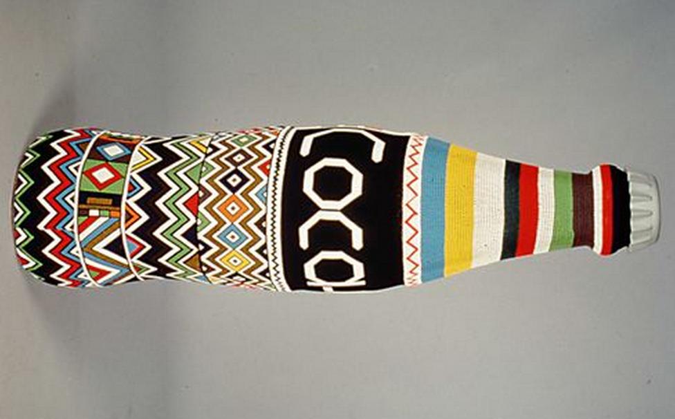 socool the coca cola   south africa folk art bottle