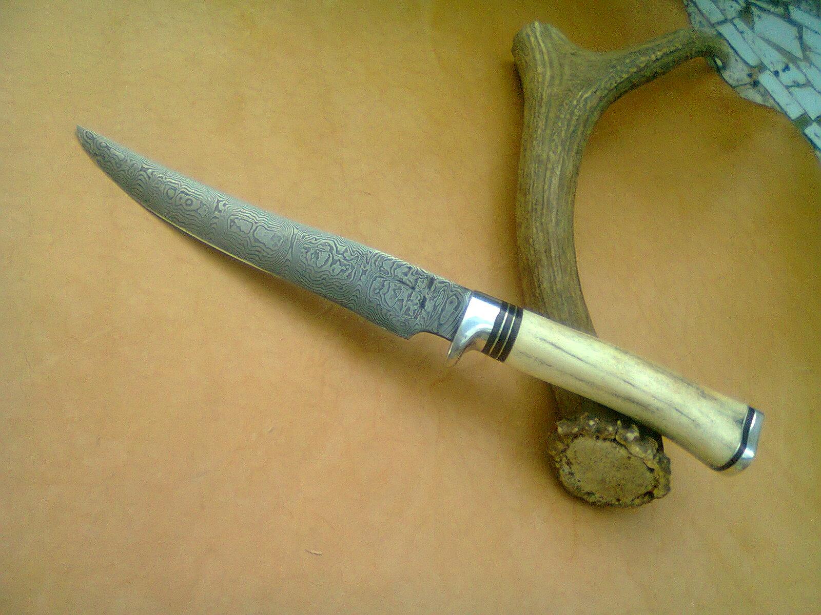 Cuchillos artesanales rdm de roberto de maria cuchillo tipo randall acero damasco rdm cuchillos - Cuchillo de cocina acero damasco ...