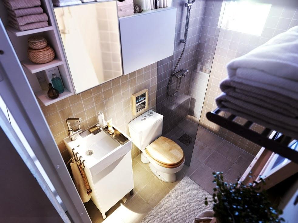 Baño Pequeno Lavadora:Fotos con ideas de baños pequeños – Colores en Casa