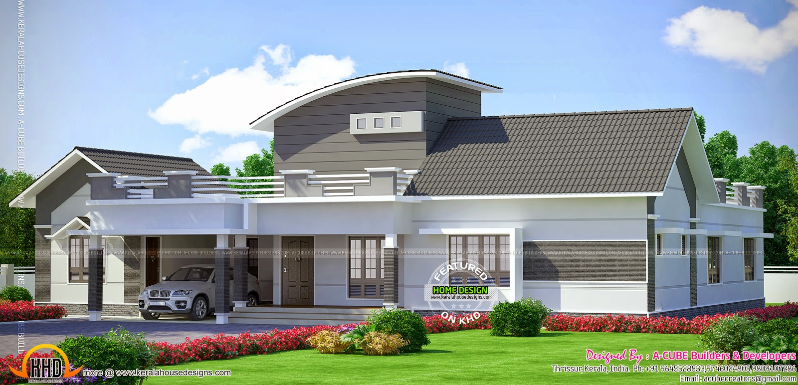 big single storied house kerala home design bloglovin rh bloglovin com