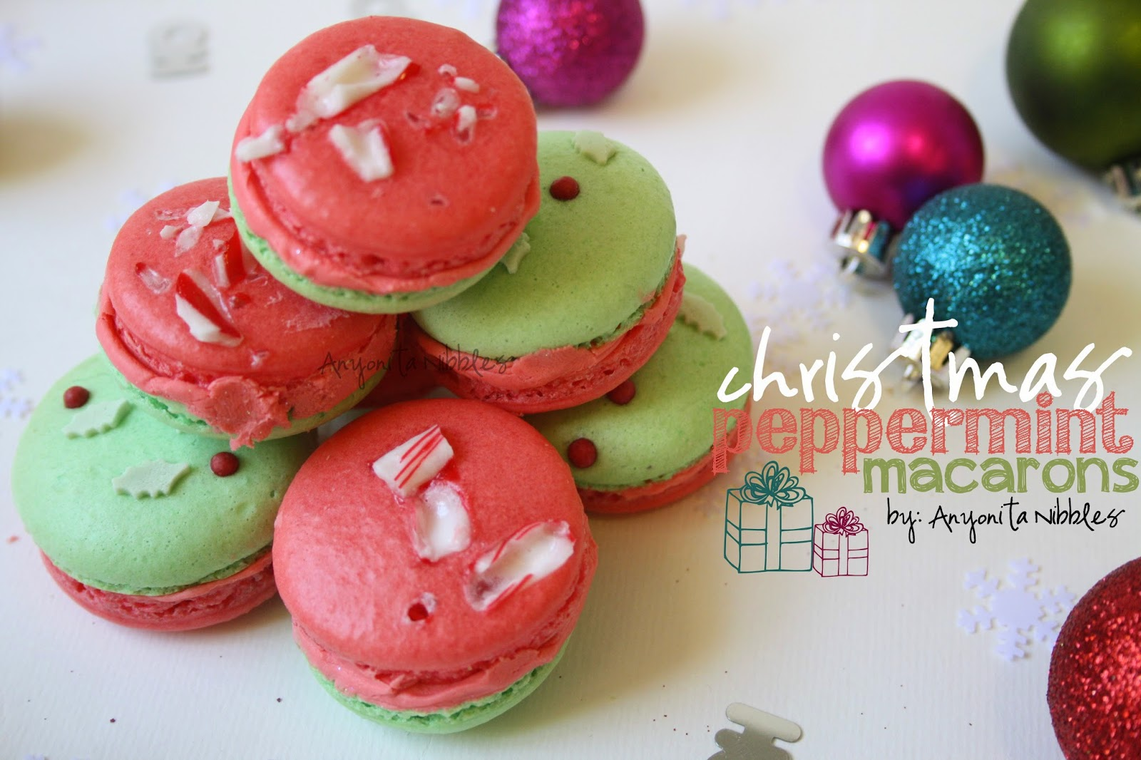 Christmas Peppermint Macarons from Anyonita-nibbles.co.uk