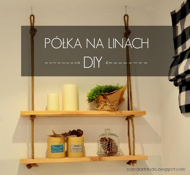 Półka na linach – DIY