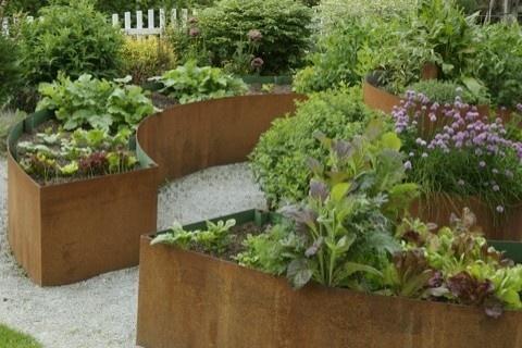 corten round garden beds - photo #5