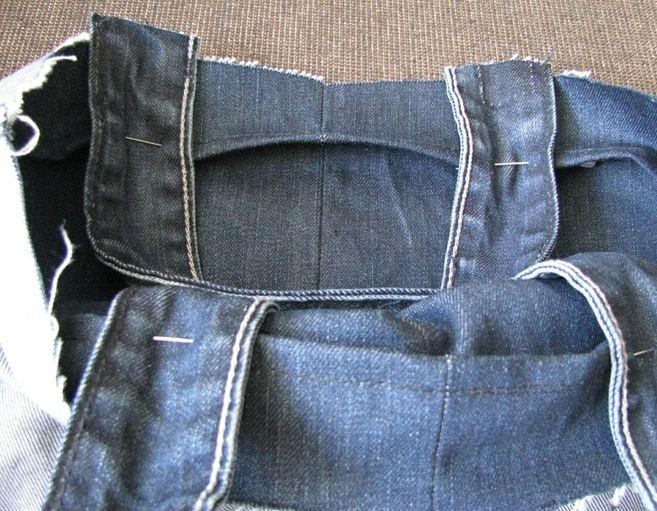 Este es el forro que se cosió de la misma manera que la bolsa de jeans ,como veras tiene el mismo tamaño y se cosió igual que la bolsa.