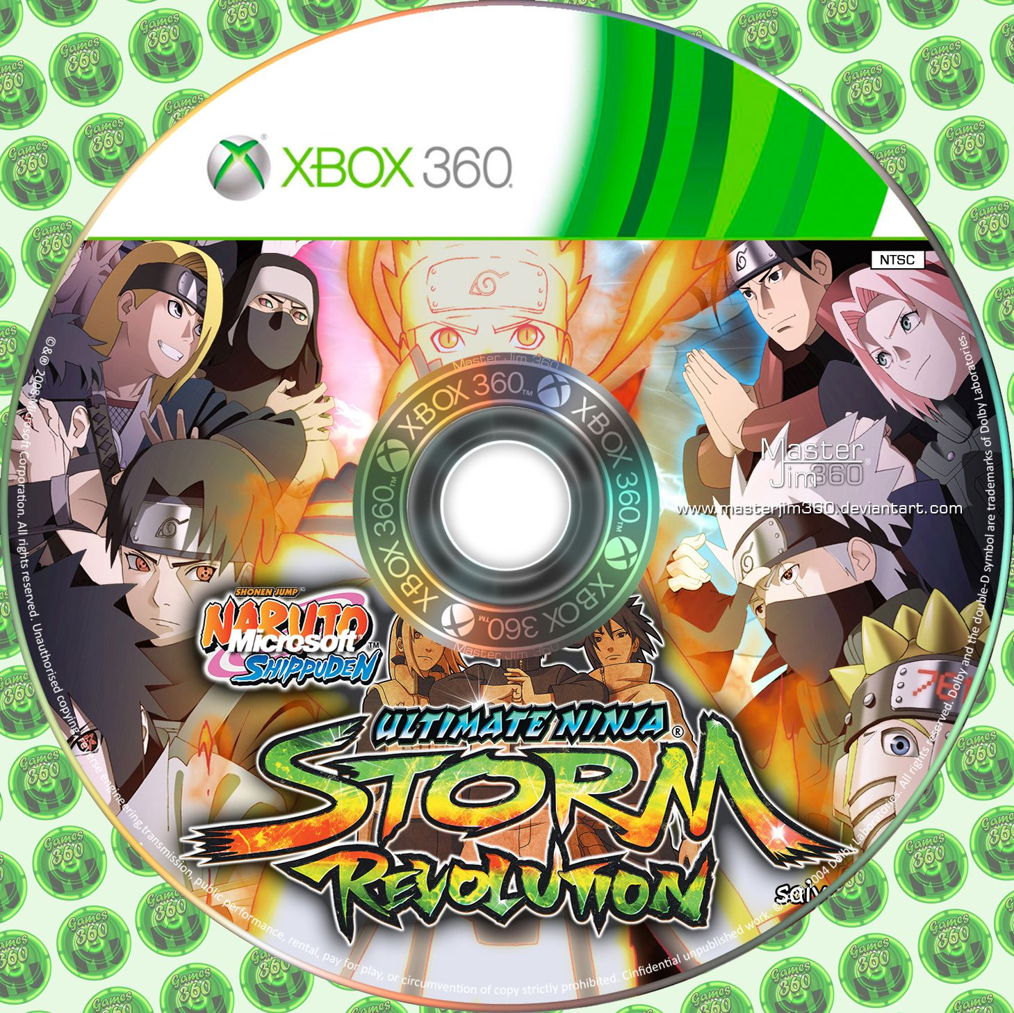 Label Naruto Shippuden Ultimate Ninja Storm Revolution Xbox 360