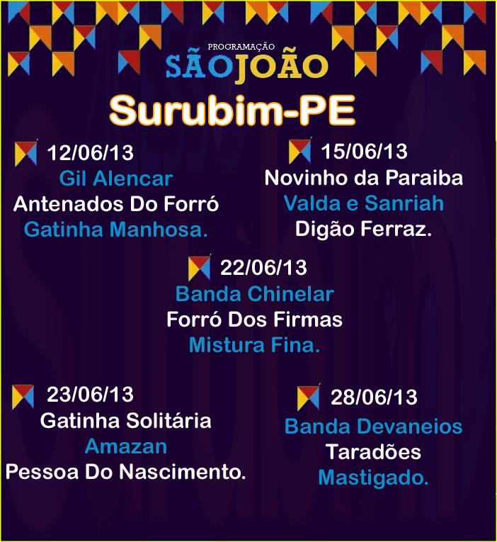 são João de surubim 2013