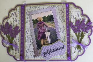 Creaties Suzan op FB- Bloemenkaart