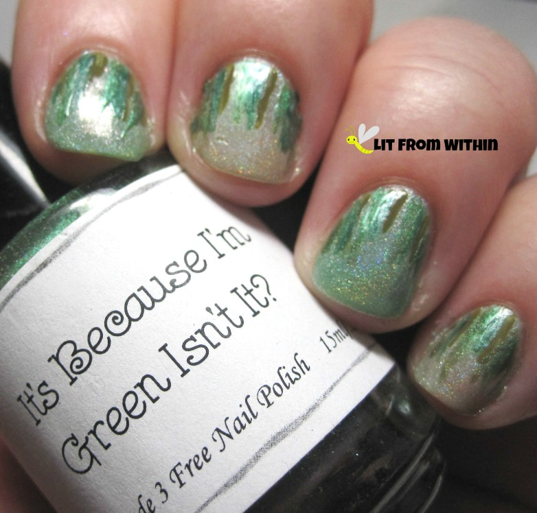 Above The Curve It's Because I'm Green, Isn't It?, a forest green holo