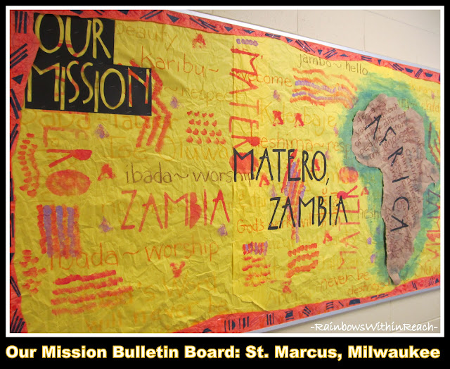 photo of: Our Mission Bulletin Board