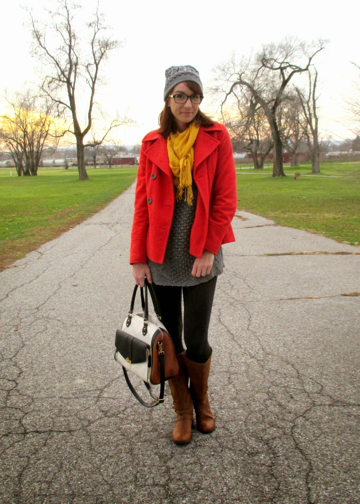 Perfect cold weather look with winter layering