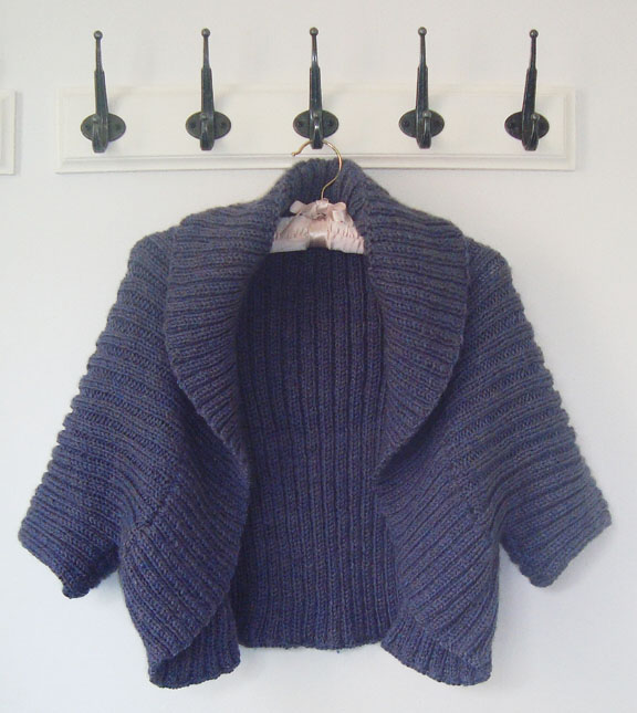 Easy Knit Shrug Pattern : Simple Aran Shrug Knitting Pattern and Knitting Masterclass